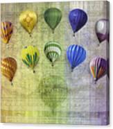 Roygbiv Balloons Canvas Print
