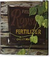 Royston Fertilizer Sign Canvas Print