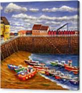 Rozel Harbour - Jersey Canvas Print