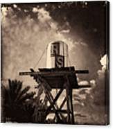 Rs Water Tower Sepia Canvas Print
