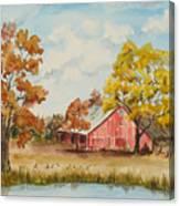 Rt 66 Barn In Bristow Oklahoma Canvas Print