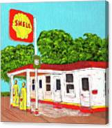 Rt 66 Shell Station Canvas Print