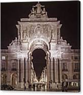 Rua Agusta Arch Lisbon Textured II Canvas Print