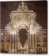 Rua Agusta Arch Lisbon Textured Canvas Print