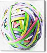 Rubberband Ball II Canvas Print