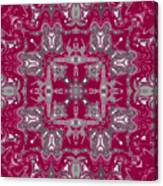 Rubies And Silver Kaleidoscope Canvas Print