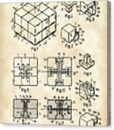 Rubik's Cube Patent 1983 - Vintage Canvas Print