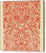 Rubino Red Floral Canvas Print