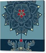 Rubino Zen Flower Canvas Print
