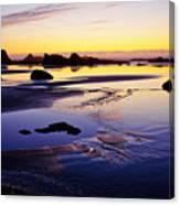Ruby Beach Yellow Blue Canvas Print
