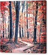 Ruby Forest Canvas Print
