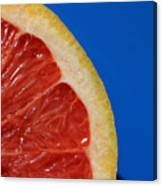 Ruby Red Grapefruit Quarter Canvas Print