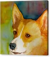 Ruby The Corgi Canvas Print