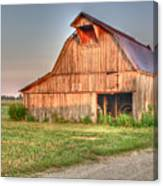 Ruddish Barn At Dawn Canvas Print