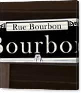Rue Bourbon Street - New Orleans Canvas Print