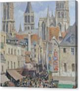 Rue De L'epicerie, Rouen Canvas Print