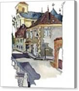 Rue Font St Jean, Ste Alvere, Dordogne Canvas Print