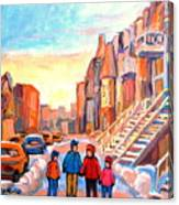 Rue Hotel De Ville Montreal Canvas Print