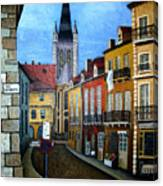Rue Lamonnoye In Dijon France Canvas Print