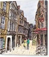 Rue Malpalu, Rouen, France I Canvas Print