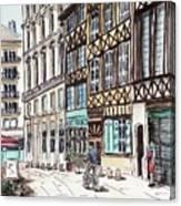 Rue Malpalu, Rouen, France II Canvas Print