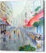Rue Montorgueil Paris Right Bank Canvas Print
