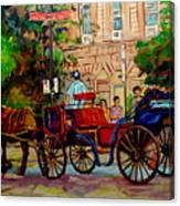 Rue Notre Dame Montreal Canvas Print
