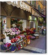 Rue Pairoliere In Nice Canvas Print