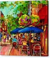 Rue Prince Arthur Montreal Canvas Print
