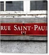 Rue Saint-paul Canvas Print