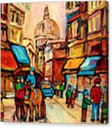 Rue St. Paul Old Montreal Streetscene Canvas Print