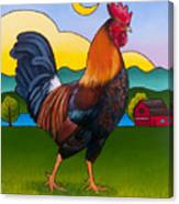 Rufus The Rooster Canvas Print