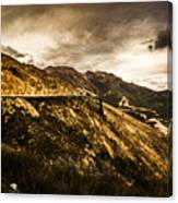 Rugged And Intense Mountain Background Canvas Print