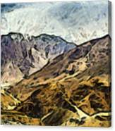 Rugged Mountains Of North India Canvas Print