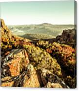 Rugged Mountaintops To Regional Valleys Canvas Print