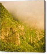Rugged Volcanic Peaks Of Moorea Canvas Print