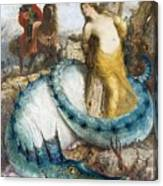 Ruggiero And Angelica Arnold Bcklin Canvas Print