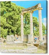 Ruin Of Philipp's Temple In Olympia, Greece Canvas Print