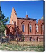Ruined Church In Rural Utah Canvas Print