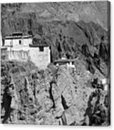 Ruins And Basgo Monastery Surrounded With Stones And Rocks Ladakh Canvas Print