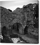 Ruins At Donegal Abbey Donegal Ireland Canvas Print