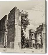 Ruins At Jamestown Canvas Print