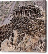 Ruins At The Ollantaytambo Site Canvas Print
