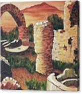 Ruins In Cumae Italy Canvas Print