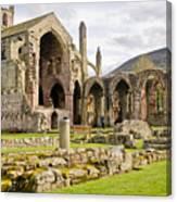Ruins. Melrose Abbey. Canvas Print