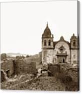 Ruins Of Carmel Mission, Monterey, Cal. Circa 1882 Canvas Print