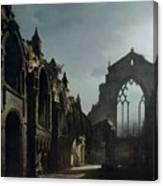 Ruins Of Holyrood Chapel Canvas Print