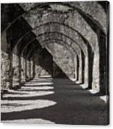 Ruins Of San Jose-black And White Canvas Print