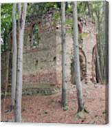 Ruins Of The Baroque Chapel Of St. Mary Magdalene Canvas Print
