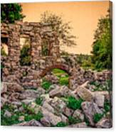 Ruins Of White's Factory - Back To The Front Canvas Print